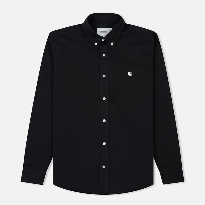 Мужская рубашка Carhartt WIP Madison 6.5 Oz Black/Wax