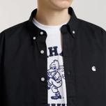 Мужская рубашка Carhartt WIP Madison 6.5 Oz Black/Wax фото- 3