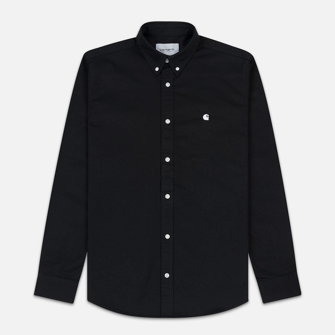 Мужская рубашка Carhartt WIP Madison 6.5 Oz Black/White