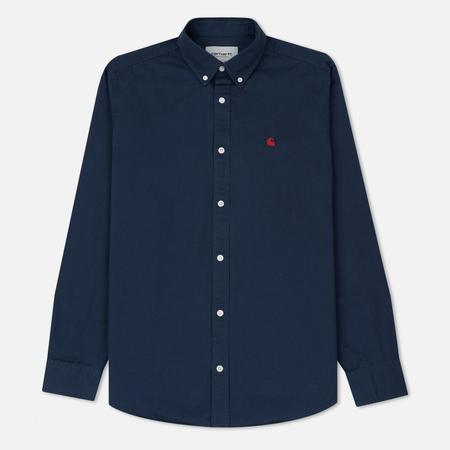 Мужская рубашка Carhartt WIP Madison 6.5 Oz Blue/Blast Red