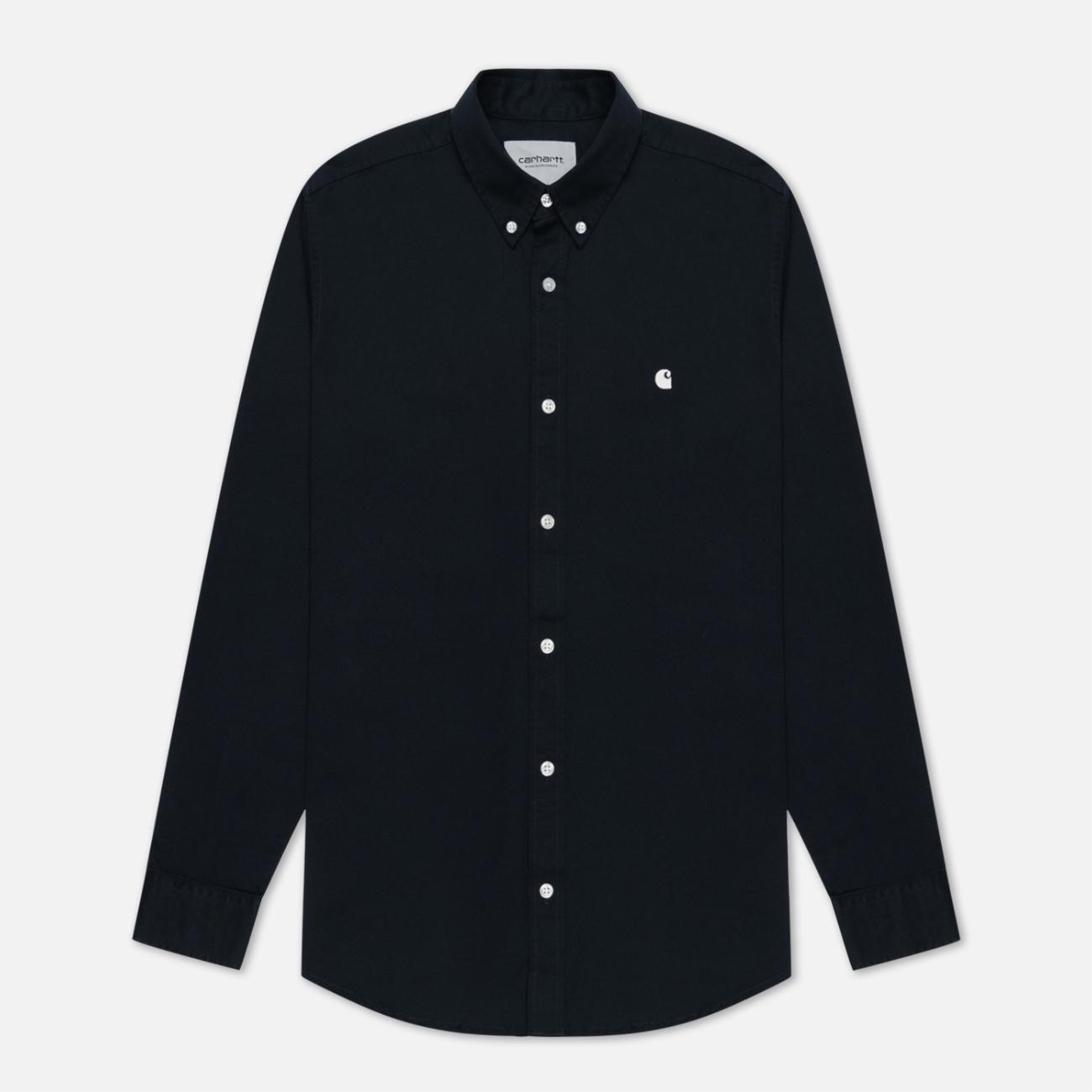 Мужская рубашка Carhartt WIP Madison 6.5 Oz Dark Navy/Wax