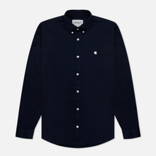 Мужская рубашка Carhartt WIP Madison 6.5 Oz Dark Navy/Wax фото- 1