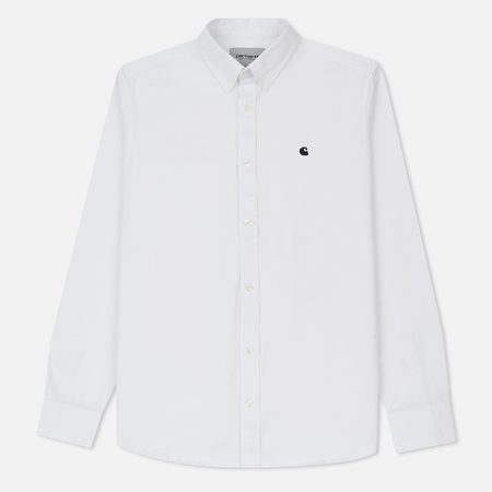 Мужская рубашка Carhartt WIP Madison 6.5 Oz White/Ink