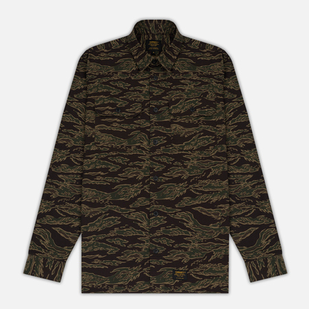 Мужская рубашка Carhartt WIP Mission Camo Tiger Laurel Stone Washed