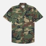 Мужская рубашка Carhartt WIP S/S Camo 313 Green фото- 0