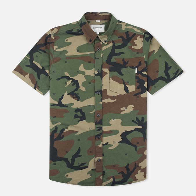 Мужская рубашка Carhartt WIP S/S Camo 313 Green
