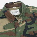 Мужская рубашка Carhartt WIP S/S Camo 313 Green фото- 1
