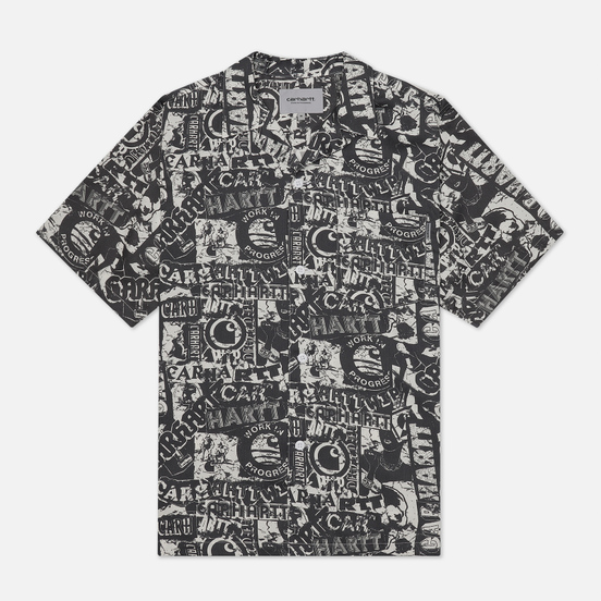 Мужская рубашка Carhartt WIP S/S Collage 3.8 Oz Black/White