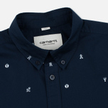 Мужская рубашка Carhartt WIP SS Drop Cap Navy/White фото- 1