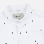 Мужская рубашка Carhartt WIP SS Drop Cap White/Black фото- 1
