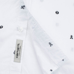 Мужская рубашка Carhartt WIP SS Drop Cap White/Black фото- 3