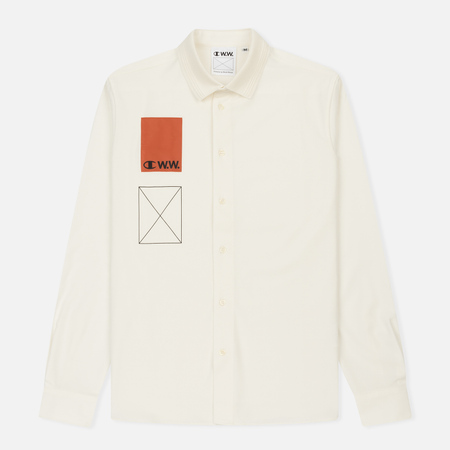 Мужская рубашка Champion Reverse Weave x Wood Wood Off White