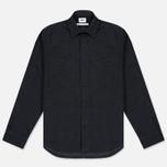 Мужская рубашка Edwin C.P.O. French Flanel Wool Blended Dark Charcoal фото- 0