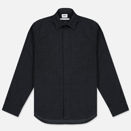 Мужская рубашка Edwin C.P.O. French Flanel Wool Blended Dark Charcoal