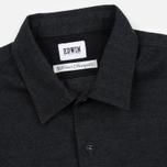 Мужская рубашка Edwin C.P.O. French Flanel Wool Blended Dark Charcoal фото- 1
