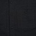 Мужская рубашка Edwin C.P.O. French Flanel Wool Blended Dark Charcoal фото- 2