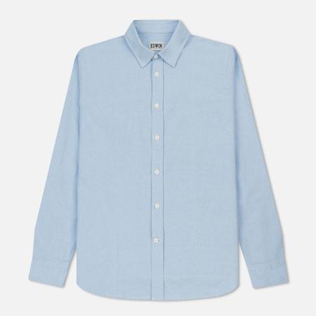 Мужская рубашка Edwin Cadet Oxford Ciel Clair