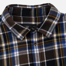 Мужская рубашка Edwin Don Java Brown Garment Wash фото- 1