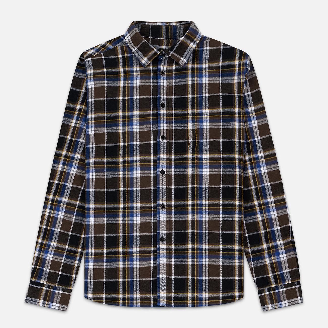 Мужская рубашка Edwin Don Java Brown Garment Wash