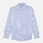 Мужская рубашка Edwin French Poplin Dots Printed Navy фото- 0