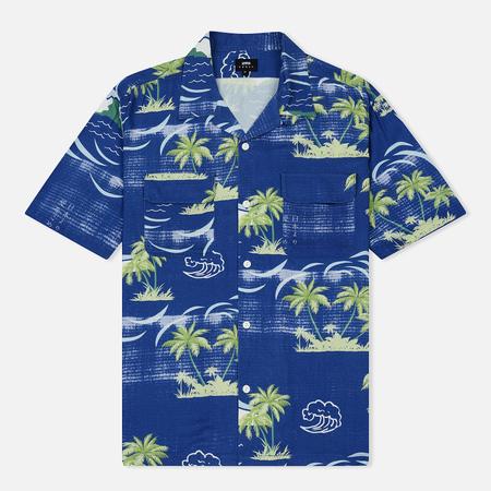 Мужская рубашка Edwin Garage All Over Print Blue Island