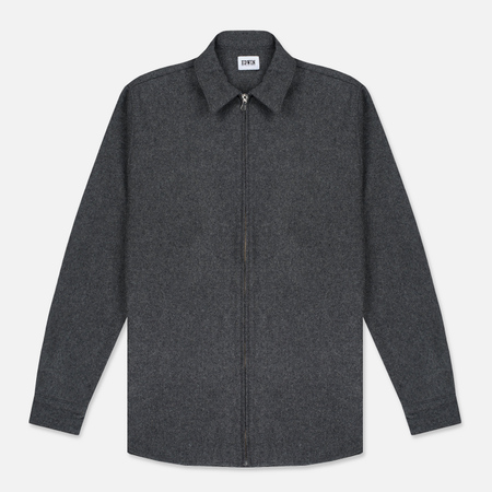 Мужская рубашка Edwin Industry Zip Italian Virgin Wool Felt Grey Marl