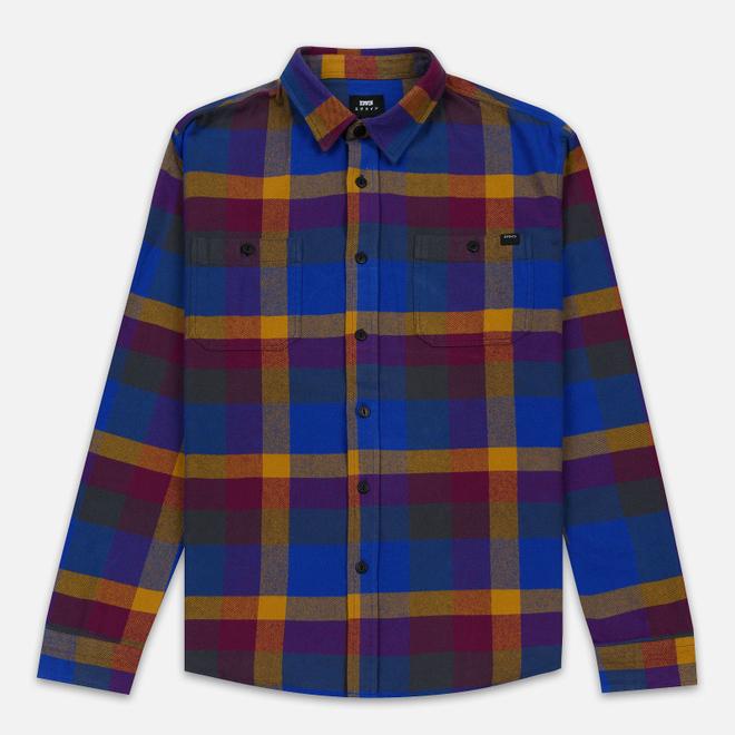 Мужская рубашка Edwin Labour Garment Wash Dark Purple/Harvest Gold