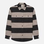 Мужская рубашка Edwin Labour Grey/Black Stripes Heavy Stone Wash фото- 0