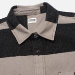 Мужская рубашка Edwin Labour Grey/Black Stripes Heavy Stone Wash фото- 1