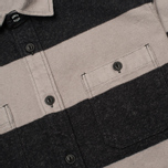 Мужская рубашка Edwin Labour Grey/Black Stripes Heavy Stone Wash фото- 2