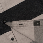 Мужская рубашка Edwin Labour Grey/Black Stripes Heavy Stone Wash фото- 4