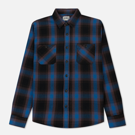 Мужская рубашка Edwin Labour Heavy Flanel Brushed Blue