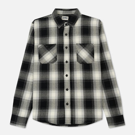 Мужская рубашка Edwin Labour Heavy Flanel Brushed Off White