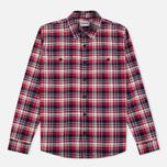 Мужская рубашка Edwin Labour Herringbone Red фото- 0
