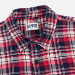 Edwin Labour Herringbone Men's Shirt Red photo- 1