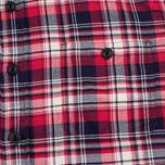 Edwin Labour Herringbone Men's Shirt Red photo- 2