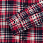 Edwin Labour Herringbone Men's Shirt Red photo- 3