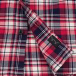 Edwin Labour Herringbone Men's Shirt Red photo- 4