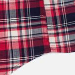 Edwin Labour Herringbone Men's Shirt Red photo- 5