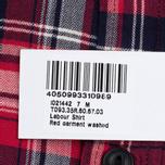Мужская рубашка Edwin Labour Herringbone Red фото- 6
