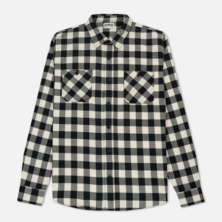 Мужская рубашка Edwin Labour Light Flanel Brushed Off White
