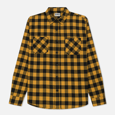 Мужская рубашка Edwin Labour Light Flanel Brushed Yellow