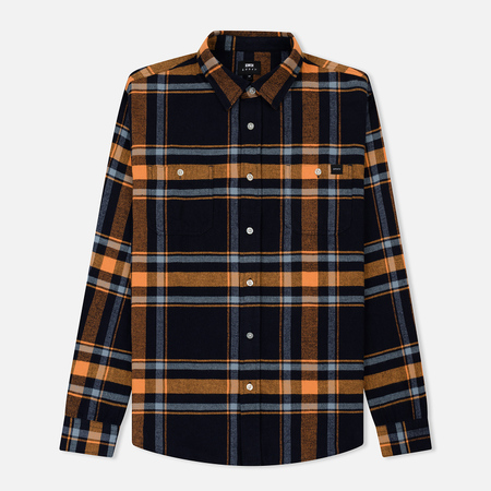 Мужская рубашка Edwin Labour Mid Twill Flannel Cotton Brushed Orange Ochre