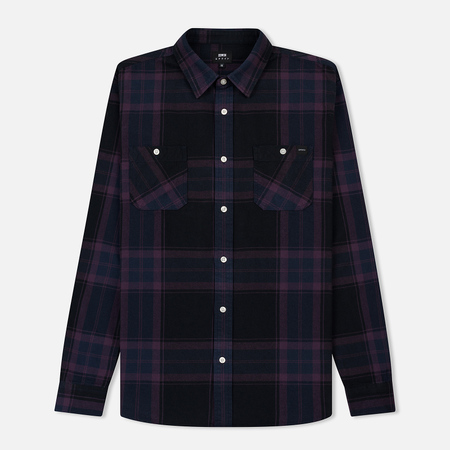 Мужская рубашка Edwin Labour Mid Twill Flannel Cotton Brushed Plum