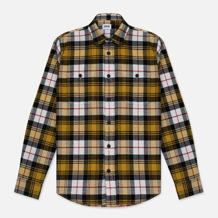 Мужская рубашка Edwin Labour Mustard Garment Washed