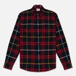 Мужская рубашка Edwin Labour Red/Black Garment Washed фото- 0