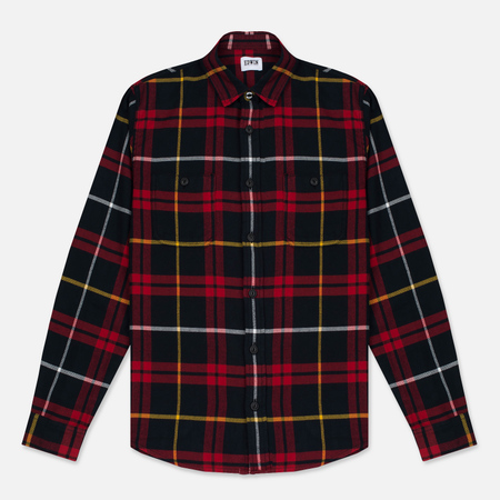 Мужская рубашка Edwin Labour Red/Black Garment Washed