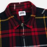 Мужская рубашка Edwin Labour Red/Black Garment Washed фото- 1