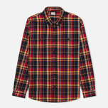 Edwin Labour Men's Shirt Red Check Garment Washed photo- 0