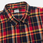 Edwin Labour Men's Shirt Red Check Garment Washed photo- 1
